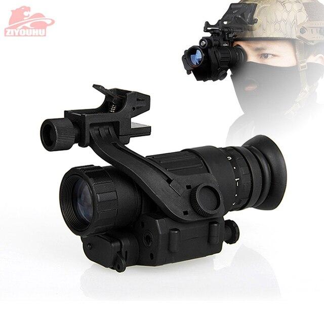 Tactical dispositivo de visão noturna infravermelha iluminação ir embutido caça riflescope monocular para fotografar, PVS 14 day night viewer