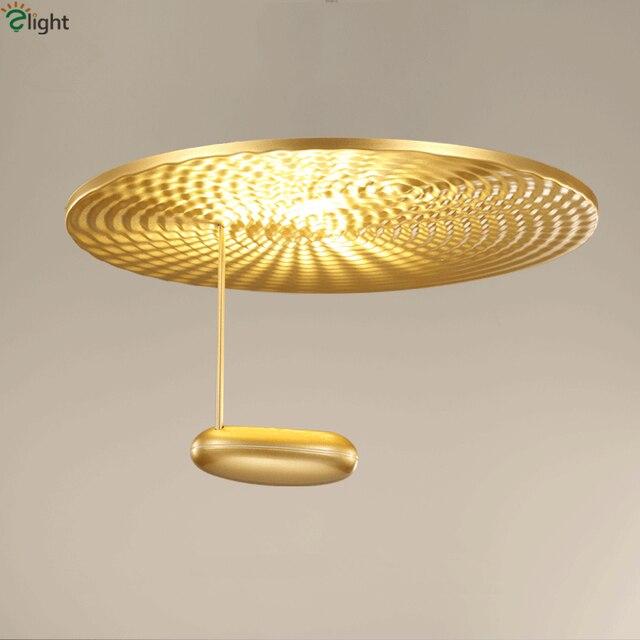 Nordic Simple Living Room Led Ceiling Lights Lustre Gold Metal Dining Lamp Bedroom