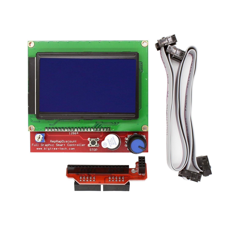 3D Imprimante Contrôleur Kit pour Mega2560 Uno R3 Starter Kits + RAMPS1.4 + 5 pcs A4988 Moteur pas à pas Pilote + LCD 12864 pour Arduino Reprap