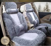 8 Pieces Auto Full Seat Cover Universal Marathon Fluff Car Seat Covers For 5 Seat Automobiles
