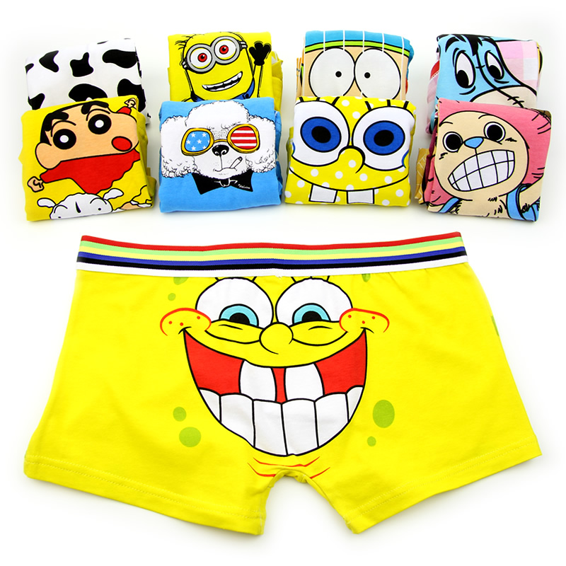 Boxer Cotton Underwear Panties Trunk Cueca Sexy Male Superman Men Cartoon Brands Young