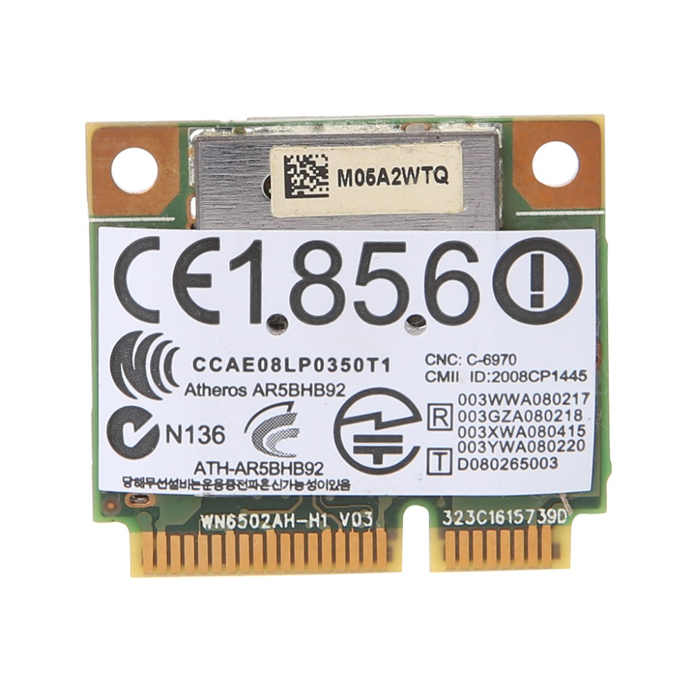 Atheros AR9280 2.4ghz 5ghz WiFi Network Card Standard Size WLAN Minipci-express AR5BHB92 For Linux Hackintosh Win10 Wireless