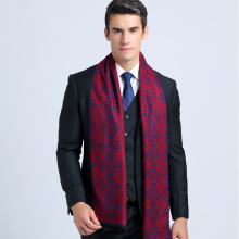 Winter Chic Brand Men Business Scarf Cotton font b Tartan b font Jacquard Scarfs Geometric Casual