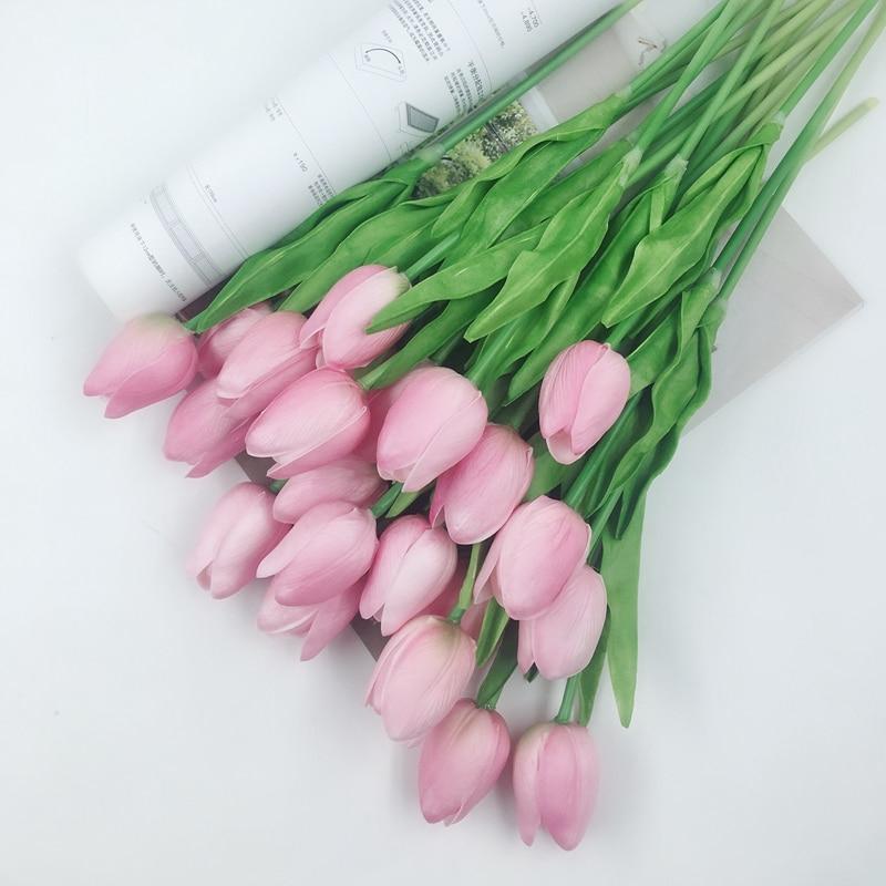 12pcs / lot לטקס מיני צבעוני פרח מגע אמיתי - חגים ומסיבות