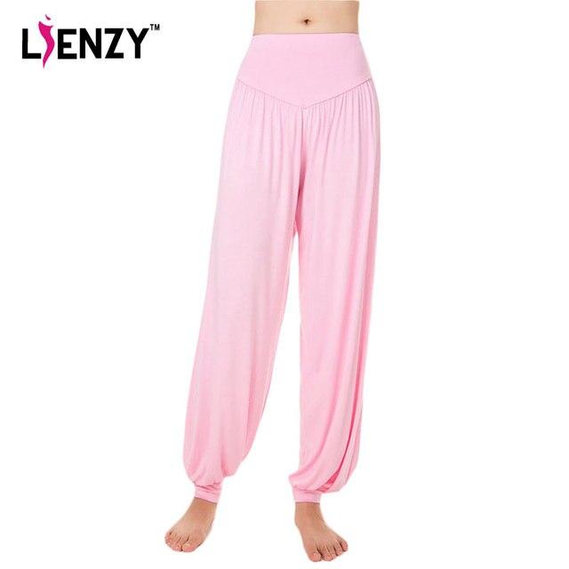 LIENZY 2016 Nuevas Mujeres Ocasionales de la Pierna Ancha Harem Sudor pantalones Mujeres Pantalones Holgados Pantalones de Mujer Pantalones de Cintura Elástica Pantalones Femeninos