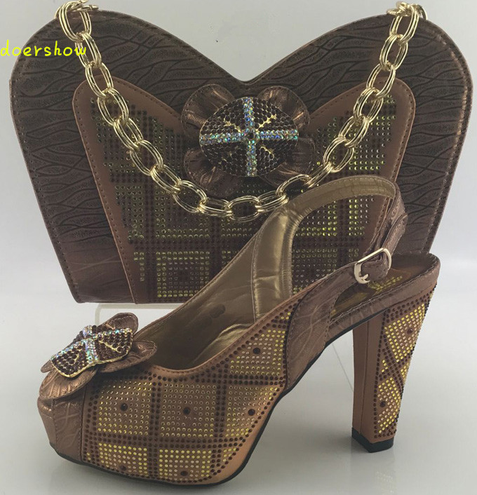 doershow New Fashion Italian Shoes with Matching bags For Party african Shoes And Bags Set for Wedding shoe and bag set  HKB1-1 doershow new fashion italian shoes with matching bags for party african shoes and bags set for wedding shoe and bag set wvl1 19