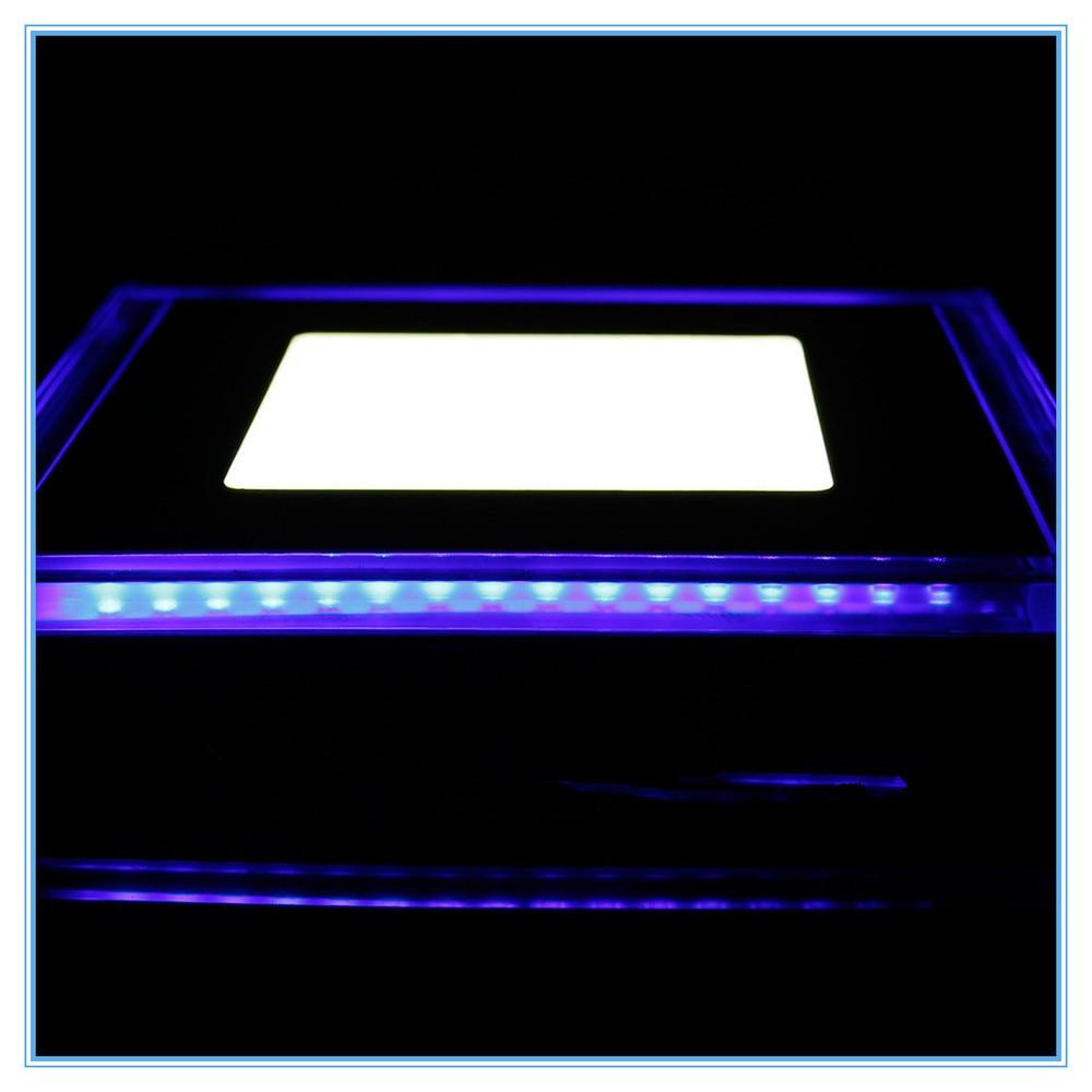 unids w decoracin de interior moderno llev la luz del panel v v led de acrlico cuadrada empotrada abajo se enci