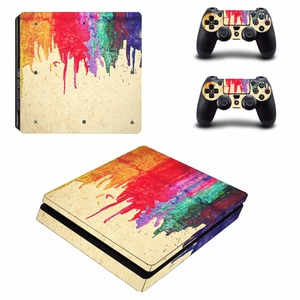 Image 3 - Custom Design PS4 Slim Skin Sticker For Sony PlayStation 4 Console and Controllers PS4 Slim Skins Sticker Decal Vinyl