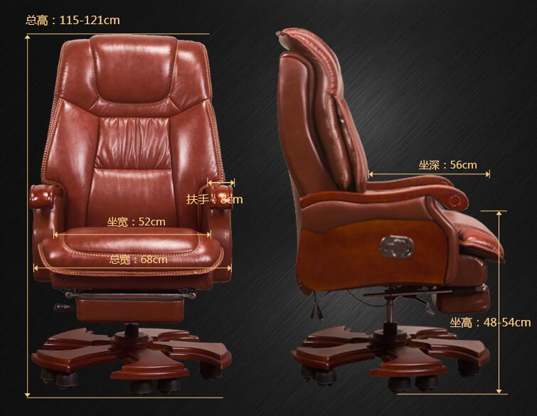 Купить с кэшбэком Leather chair for home use. Office chair. Massage can be reclining chair. .21
