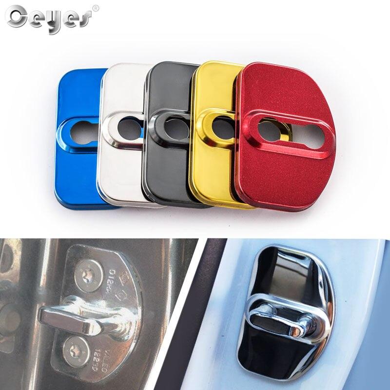 Ceyes Car Decoration Door Lock Covers Fit For Renault Scenic Captur Megane 2 3 4 Duster Fluence Clio Kadjar Oem Auto Accessories