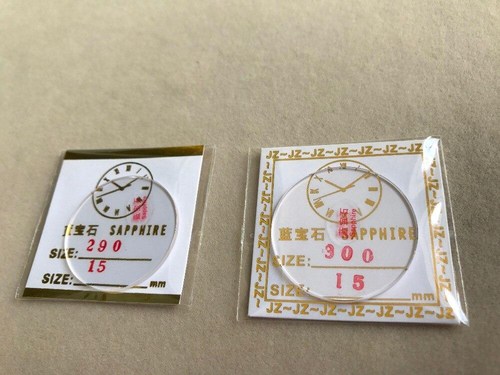 Relógio de Cristal de Safira para Reparo do Relógio com Tamanho Frete Grátis Plana Seleto 28 – 28.5 29 29.5 30mm 2pc 1.5mm