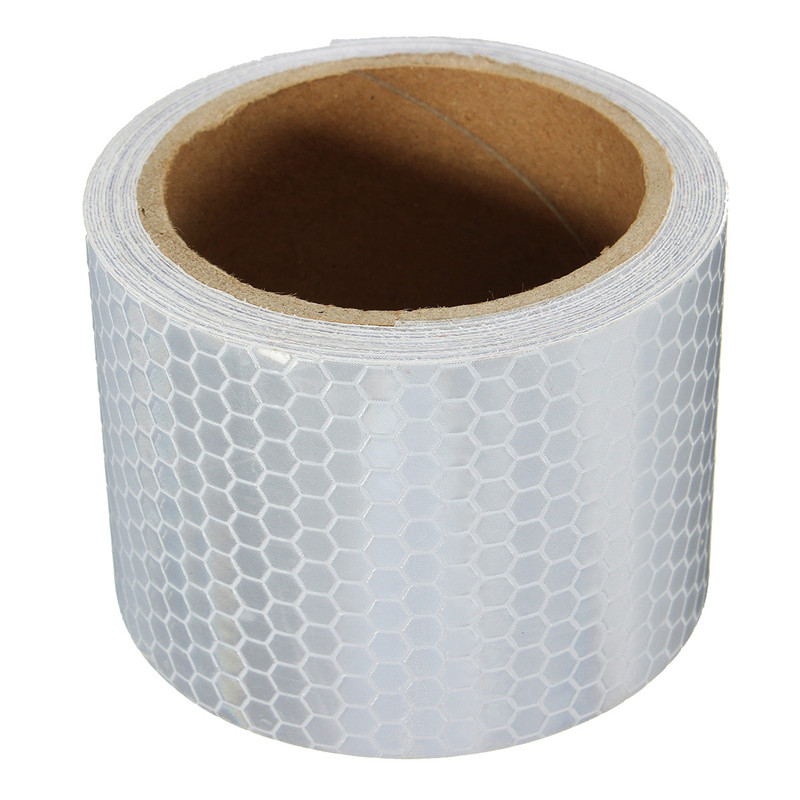 NEW 10pcs White Reflective Safety Security Warning Conspicuity Tape Film Sticker Reflective Film Hot Sale airborne pollen allergy