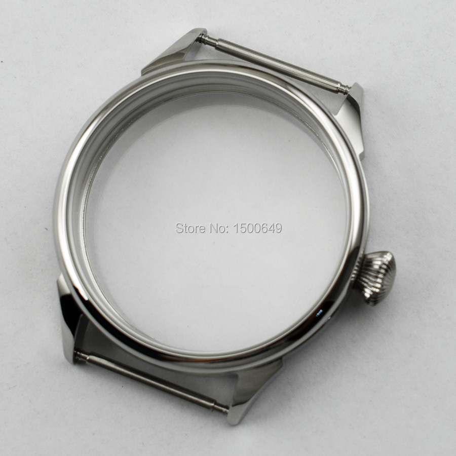 Outside diameter 42mm watch case New fit 6497 6498 st36 movement mens watch