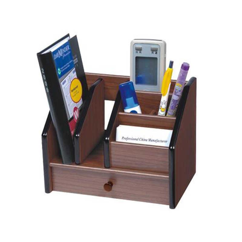 Высокое качество деревянный держатель ручки канцелярские держатель ручка горшок стол Органайзер карандаш Стенд аксессуары для офисных столов с ящиком делитель