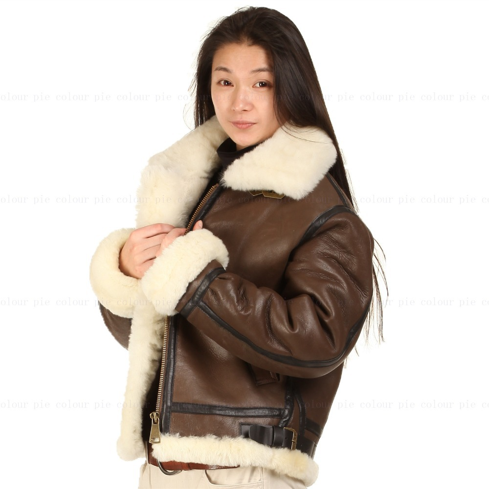 Womens leather flying jacket