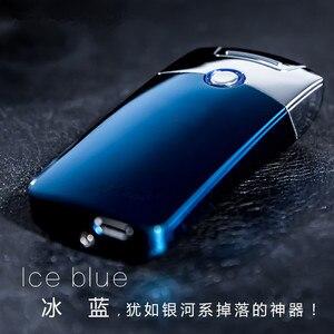 Image 3 - 強力な USB ライター充電式電子ライターアイアンマンマーベルタバコプラズマシガーアーク Palse 雷ライターパルス