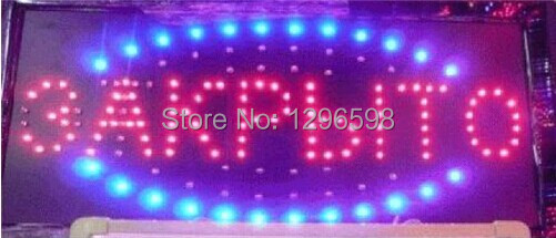 2017 hot sale custom 10x19 Inch Semi-outdoor Ultra Bright running 3AKPbITo led close sign