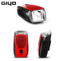 GYIO Bicycle Light Waterproof IPX5 Bike Rear Tail Light LED Flash Cycling Safety Warning Lamp Bike Front Head Light Rechargeable