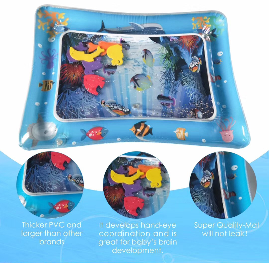 HTB1hMS1L4naK1RjSZFBq6AW7VXaF Hot Sales Baby Kids water play mat Inflatable Infant Tummy Time Playmat Toddler for Baby Fun Activity Play Center DropshipTSLM1