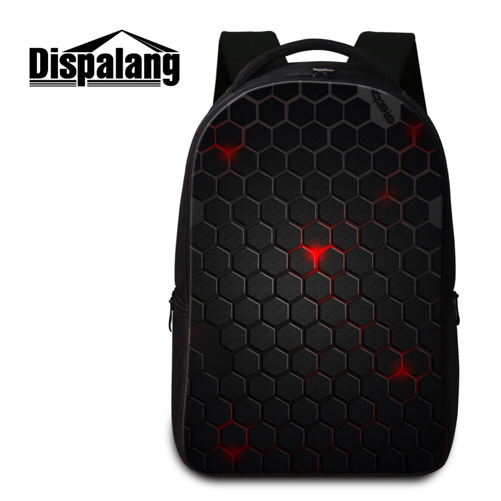 Dispalang Women Laptop Backpack Geometry Pattern Rucksack Large School Bags Kids Travel Shoulder Bag Mens Notebook Computer Bag pabojoe women mens school backpack italian 100