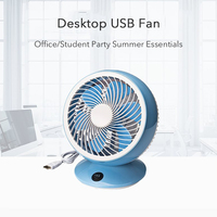 New Portable Usb Desk Fan 6 Inches 5V 4 Color Portable Mini Fan Electric Fans For Home Low Noise Rotate Stand Fan