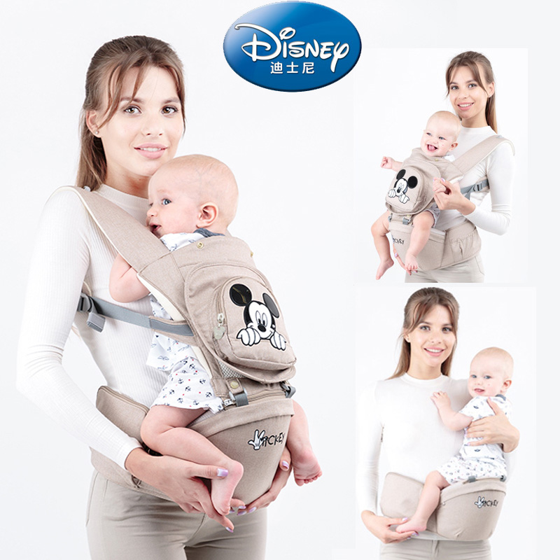 цена Disney Ergonomic Baby Carrier Infant Baby Hipseat Sling Front Facing Kangaroo Baby Wrap Carrier for Baby Travel 0-36 Months
