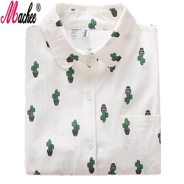 2017 Ladies White Shirt Autumn Fashion blouses for School Girl Long Sleeve Women Blouses Animal Print Tops Blusas Feminine Bluse