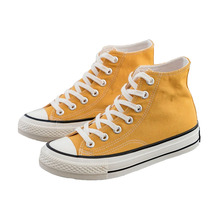 Classic Female High-top Canvas Shoes Fashion Women Vulcanized Shoes Candy Colors New Casual Ankle Lace Up Sneakers Student Wild недорого