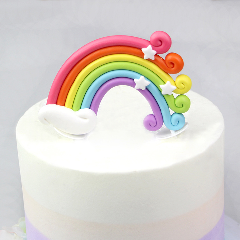 Awesome Rainbow Cake Topper Cupcake Pick Wedding Birthday Party Favor Personalised Birthday Cards Xaembasilily Jamesorg