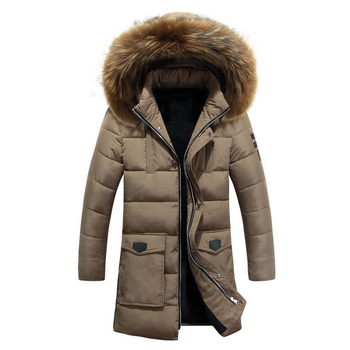 Parka Men 2018 New Men's Winter Jackets Long Coat With Fur Hood Clothing Thick Warm Parkas Male Coat Big Size 3XL 50