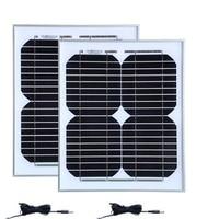 Waterproof Solar Panel 12v 10w 2 PCs Solar Modules 24v 20w Solar Charger Telephone Solar Battery Solar Energy System Caravan Car