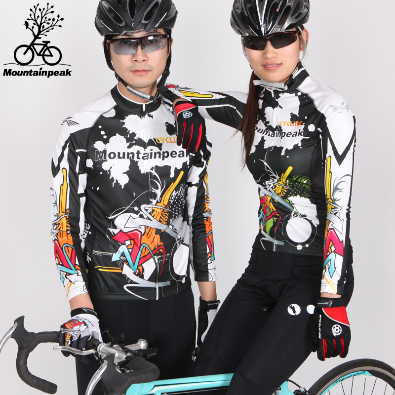 ФОТО Autumn Spring Fleece Riding Mountain Bike MTB Pants Suit Men Suits Jacket Jersey Shorts Sets Cycling Clothing