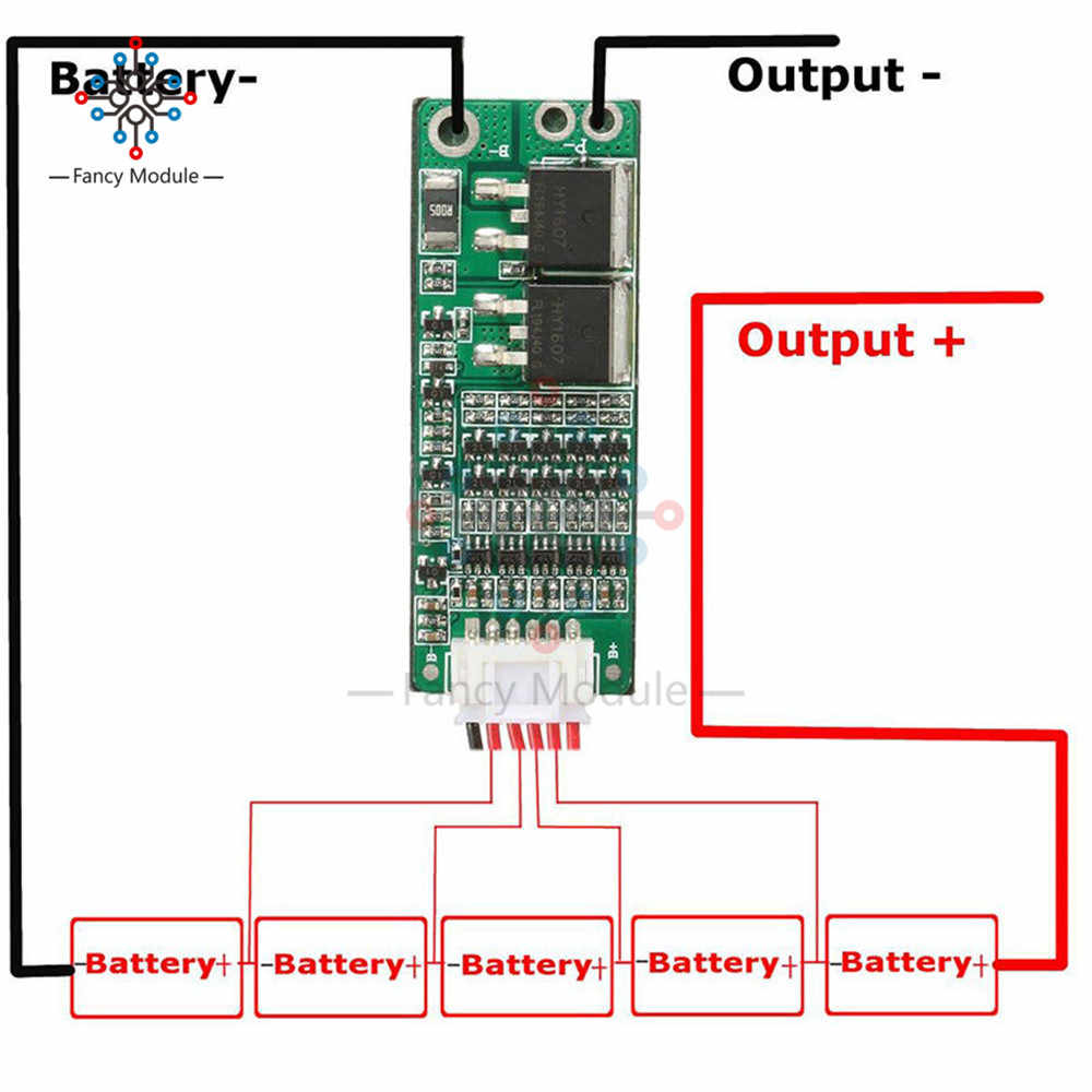 Detail Feedback Questions About 5s 15a Li Ion Lithium Battery Bms 18650 Protection Circuit Charger Board 18v 21v Cell