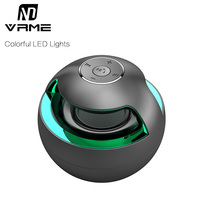 Vrme Bluetooth Speaker with Colorful LED lights Stereo Bass Wireless Speakers with Microphone Portable Mini PC Speaker Desktop