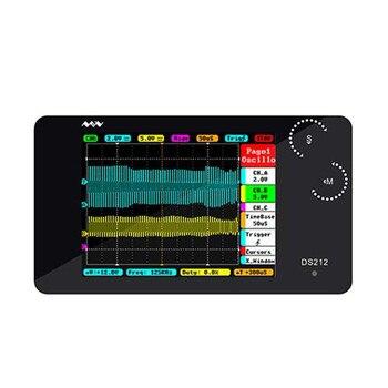 DS212 Mini Digital Oscilloscope 2-channel Oscilloscope USB Interface Full Color TFT Display 8MB Memory Storage 1MHz 10MSa/s