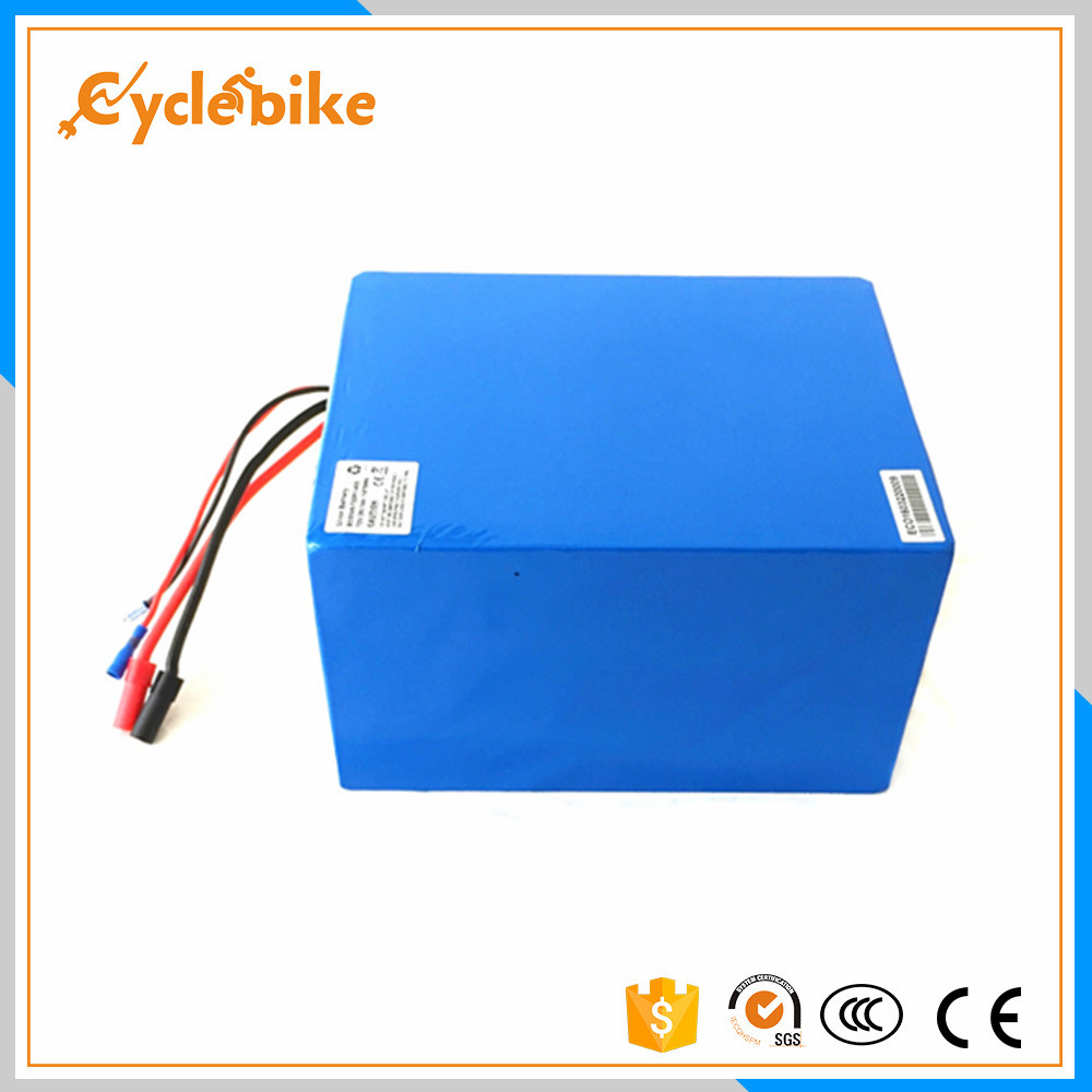 72v 32ah 5000w electric bike lithium battery with 5A charger for 5000w electric bike conversion kit image