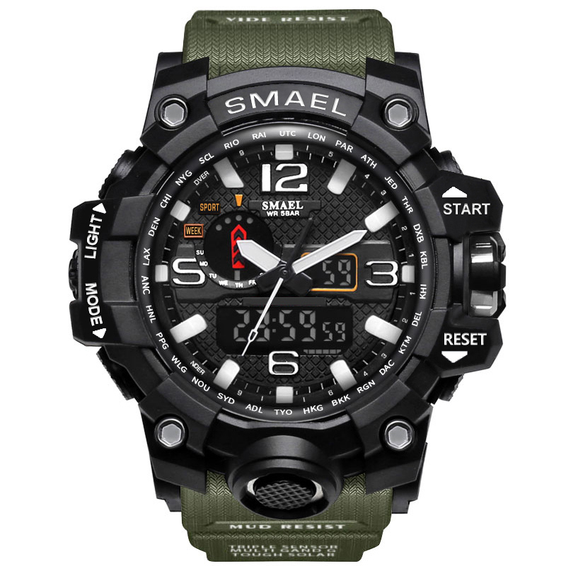 где купить  Fashion Mens Sports Watch LED Waterproof Casual Shock Male Clocks Relogios Masculino Men's Gift Military Digital Wrist Watches  по лучшей цене