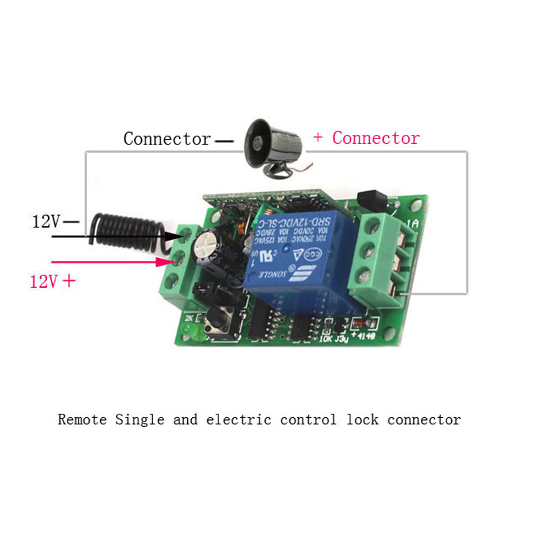 Sleeplion Home DC 12V 1CH Channel Wireless RF Waterproof Remote Control 3 3-key Switch Transmitter+3 Receiver Adapter