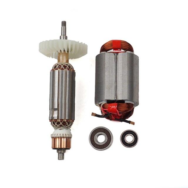 AC220 240V Armatür Elektrikli Açı değirmeni için Rotor stator MAKITA GA5030 GA4530 GA4030 GA5034 GA4534 GA4031 GA4030R GA4034