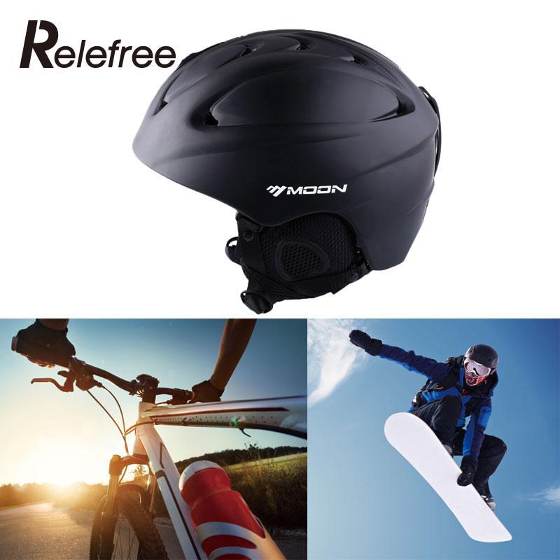 ФОТО Outdoor Ski Safety Helmets Road Cycling Integrally-molded Skateboard  Ice Hockey Protective Visor For Women Kids Men