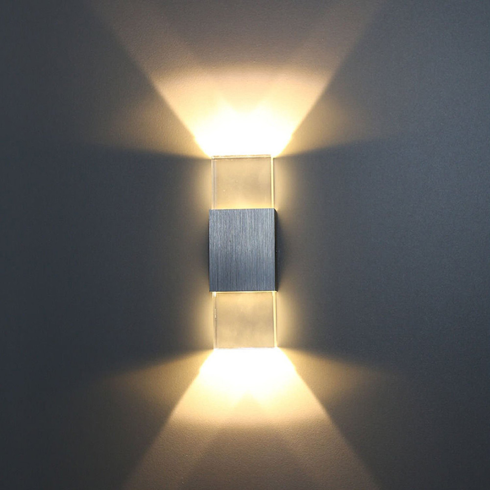 Bedroom modern wall lights - Crystal Led Wall Lamp Cool White 2w 6w Aluminum Led Wall Light Indoor And Outdoor