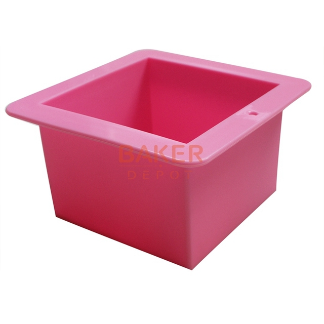 silicone handmade soap mold 500ml straight quadrel 9 * 9 * 6.5cm silicone bakeware bread moulds  SSM-001-7