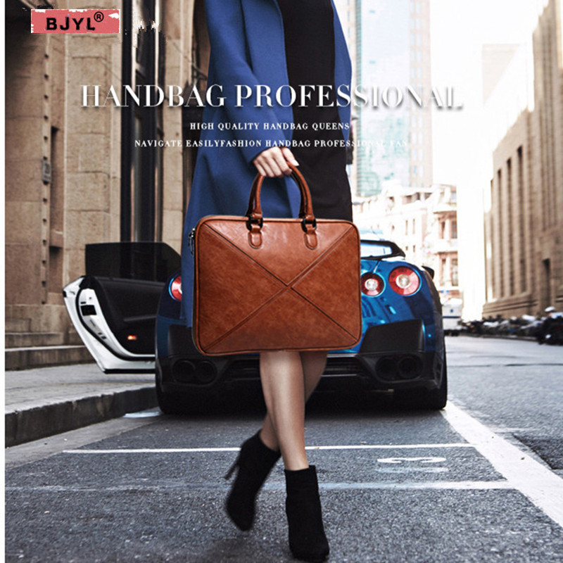 BJYL Women Briefcase Thin Section Business 14
