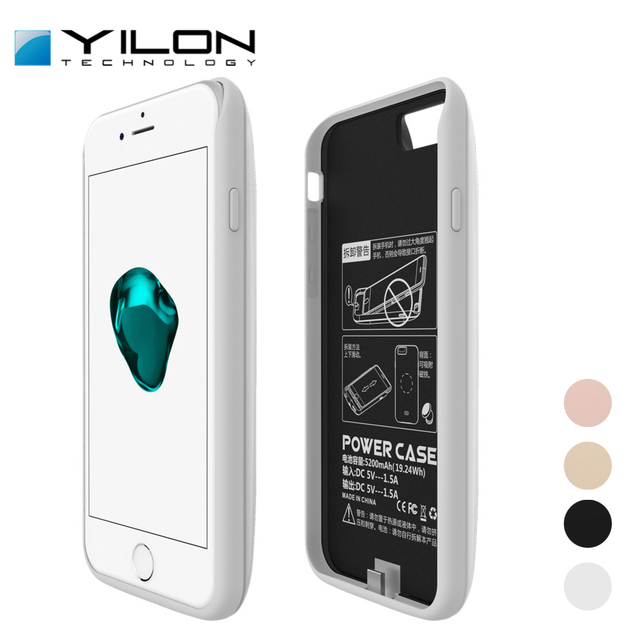 premium selection c4e07 a787f US $36.98  YILON Brand Power Case Portable Battery Charger Cases For Apple  iphone 7 7Plus Mobile Phone 7500mAh Anti fingerprints Ultra Slim-in Battery  ...