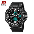 TTLIFE Fashion LED Design Dual Display Casual Men Watch Waterproof Sports Watches Luxury Military Wrist Watch Male Big Clock
