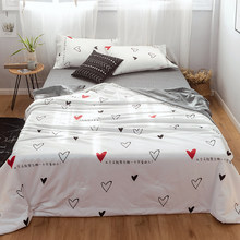 Heart shape 1PCS cotton bedspread coverlet/bed cover, summer blanket 200*230/150*200/180*200cm North European style(China)