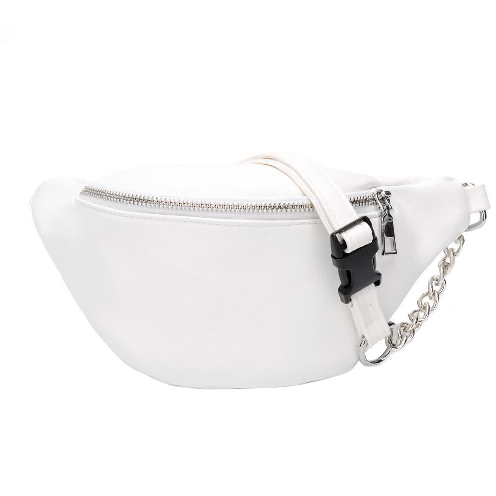 Women Bags Fashion Chain Leather Messenger Shoulder Bag Chest Bolso Cintura Mujer Fanny Packs 2019 Marsupio Donna Sac Banane