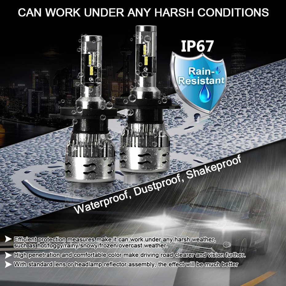 CNSUNNYLIGHT ECE Car LED Headlight Bulbs H7 H4 H11 H8 9005 9006 H1 H3 880 H13 9004 9007 12000LM White 12V Auto Head Fog Lights