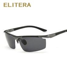 ELITERA Aluminum Magnesium Men's Sunglasses Polarized Sun Glasses Male Driving Fishing Outdoor Eyewears Accessories Men E3085