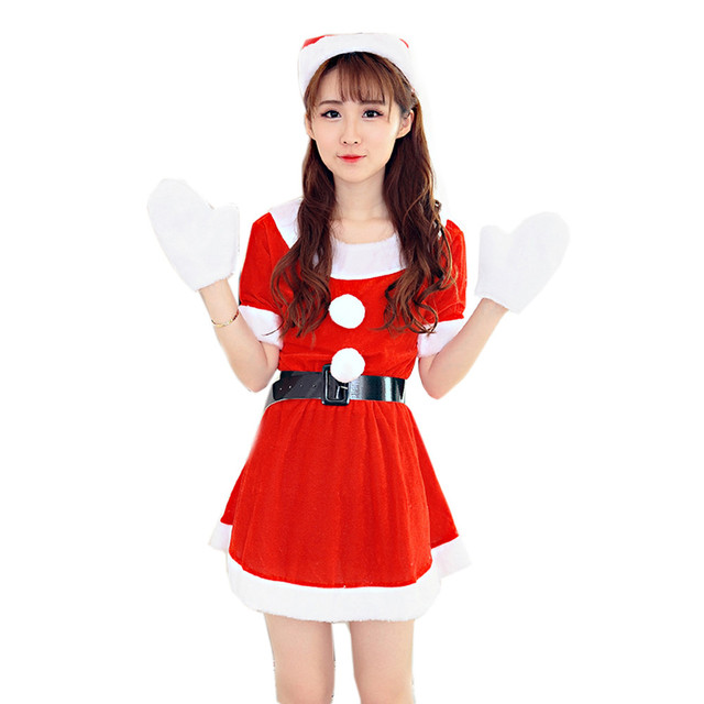 bac58730acf4 NewHigh Recommend Women Sexy Santa Christmas Costume Fancy Dress Xmas  Office Party Outfit wonder woman vestidos mujer robe femme
